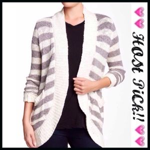 bobeau Sweaters - Bobeau Striped Cardigan
