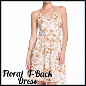 Collective Concepts Dresses & Skirts - Floral Print T-Back Dress