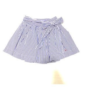 Hollister blue and white striped skirt