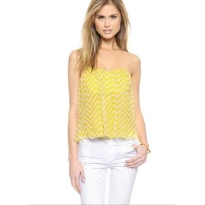 🆕 Mason by Michelle Mason Chevron Strapless Top