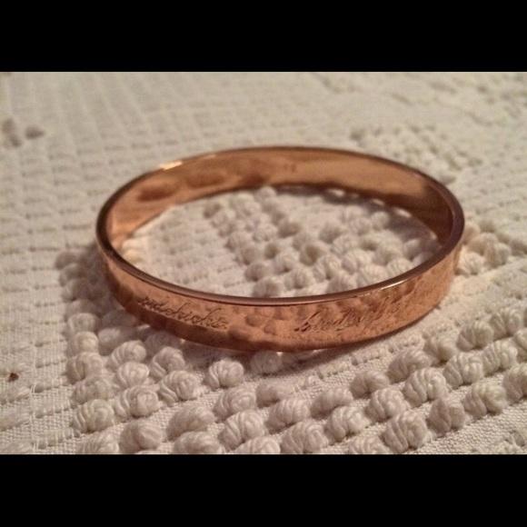 Kate Spade Jewelry Rose Gold Bridesmaid Idiom Bangle Poshmark