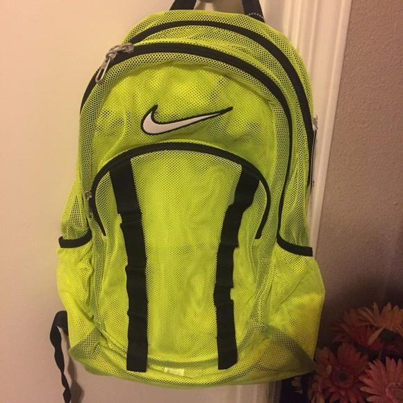 24847164cc12 Brand new nike neon yellow green mesh backpack