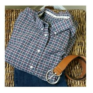 Authentic ROCKIES jean swear plaid shirt