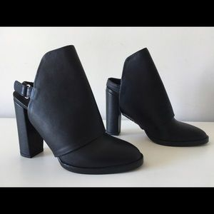 VINCE JODY LEATHER SLINGBACK MULE BOOTIES SIZE 36