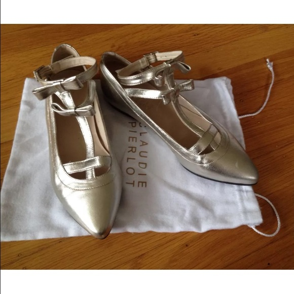 Claudie Pierlot Femme Cuir Imprimé Floral Chaussures En Daim -trimmed Blush Taille 36 Claudie Pierlot 7F7eIYnO