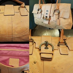 Leather Coach Hampton Satchel