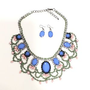 NEW Cobalt Blue Necklace Set