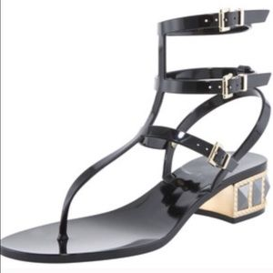 Valentino Shoes - Valentino Rockstud Gladiator Sandals