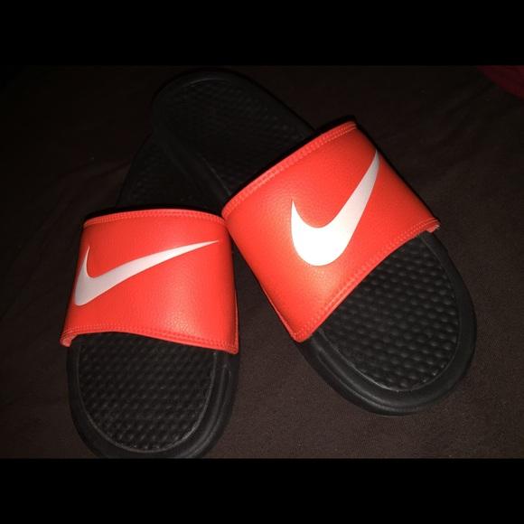 4da462771db Neon orange Nike sandals. M 56b1b0e77fab3a4835047560