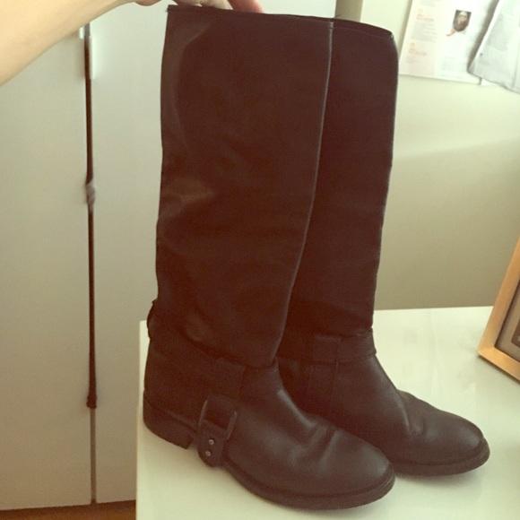 53 zara shoes knee high black zara boots