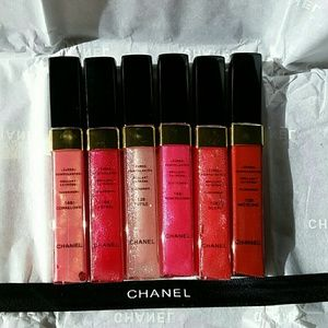 CHANEL Other - Chanel VIP Set of 6 Sparkle Lipgloss