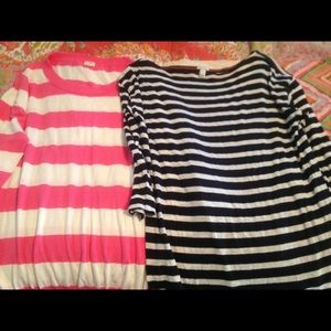 JCrew striped shirts