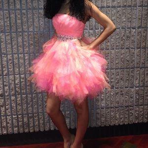 Pink / peach prom dress