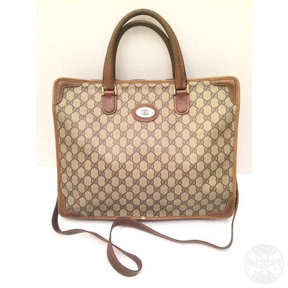 a6ba15d587e Gucci Handbags - Vintage GUCCI Monogram Bag Briefcase