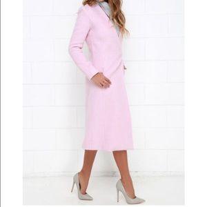 Lulu's Jackets & Coats - BNWOT GORGEOUS pink Lulus wool coat