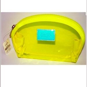 PINK Victoria's Secret Handbags - PINK yellow neon small make up bag 💕