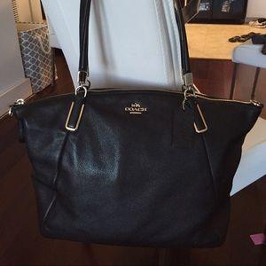 Coach black large Kelsey bag