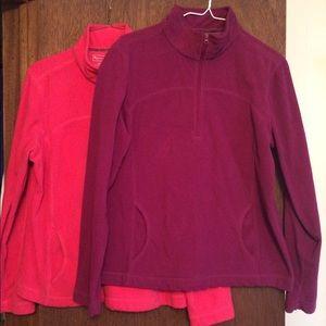 Tek Gear Tops - Two fleece pullover bundle