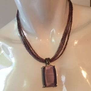 Jewelry - Purple pendant necklace