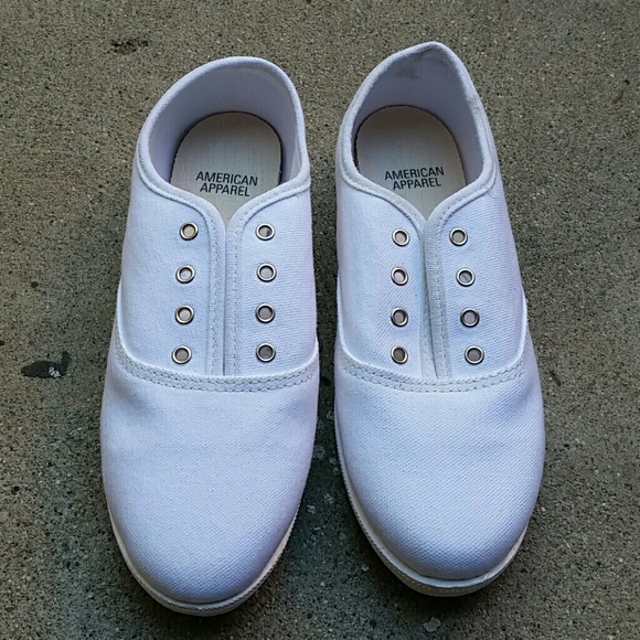 American Apparel Sneaker White Canvas