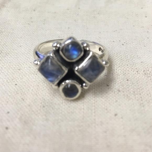 Peace Love Flair Jewelry - Rainbow Moonstone ring SS- 7