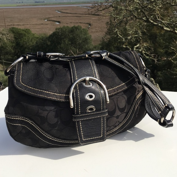 3fa0b2e07c53 ... best price coach soho hobo 10603 black signature bag 1aea3 2c8d1