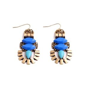 Jewelry - 👍2xHost Pick👍Blue statement earrings
