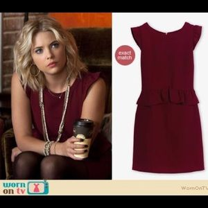 60e4d609f8e ... Pumps 38.5 Sandro Resonance Burgundy Crepe Peplum Dress