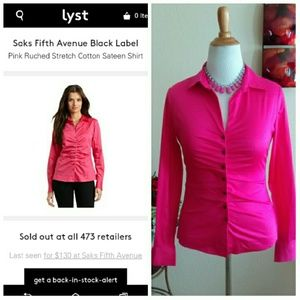 Black by Saks 5th Avenue Tops - ⬇Pink Rouched Saks Top