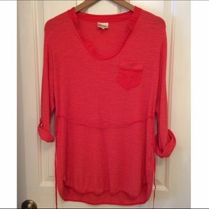 Anthropologie Soft Red Tunic size M