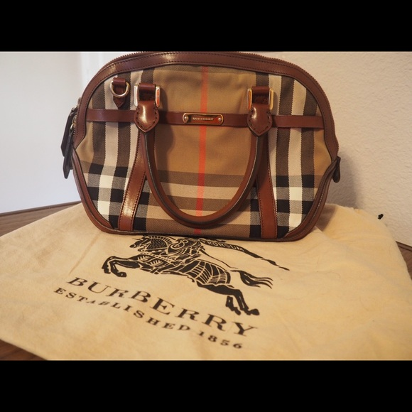 Burberry Handbags - Authentic Burberry Small Orchard Check Bag 0352b640a6d73