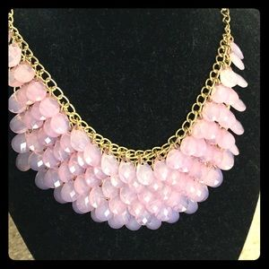 Dusty pink necklace