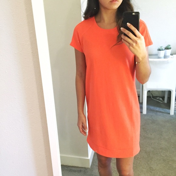 San Souci Dresses Bright Orange Shift Dress Poshmark