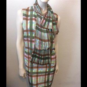 Missoni Pleated Fan Collar Dress