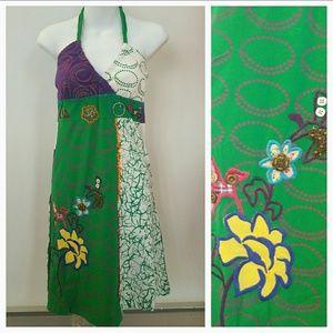 Dresses & Skirts - 🌹HP🌹Mardi Gras - Halter top dress NWT