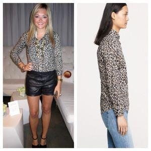 d941cb15fd4960 J. Crew Tops - J Crew perfect shirt in leopard print