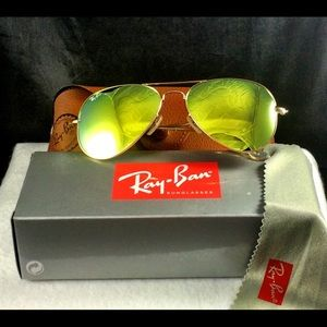 ray ban aviator yellow glass  brand new authentic ray ban aviators