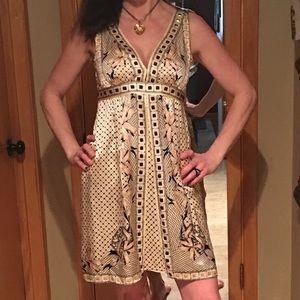 Dresses & Skirts - 100% Silk elegant detailed. So much detail.