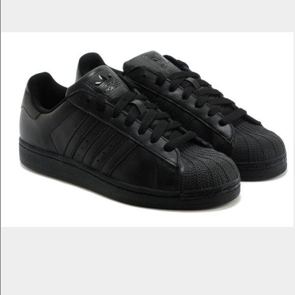 adidas all black shoes