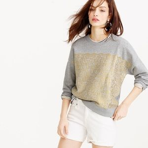 J. Crew Tops - J. Crew Collection Metallic Lace Sweatshirt