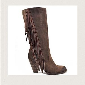Reba Shoes - 🎉HP🎉 Black Suede Leather Boots