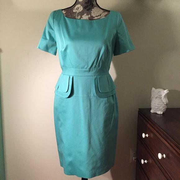 a1a957d6b65 Karen Millen Dresses   Skirts - Karen Millen aqua peplum pencil dress sz8