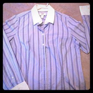 Light Blue striped button down shirt