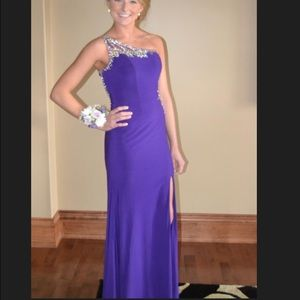 Tony Bowls size 0 purple prom dress