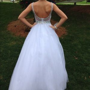 Tiffany dresses white ballgown prom dress