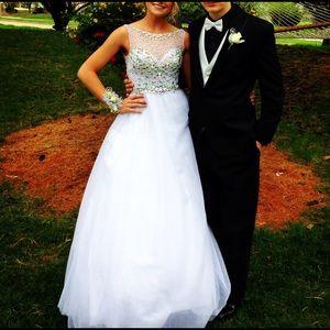 Sherri Hill Dresses - Tiffany dresses white ballgown prom dress