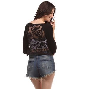 Tops - LAST ONE!! Lace Back Top-MEDIUM