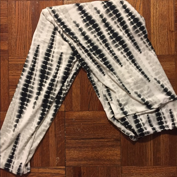 8c0c4fa97f863 LuLaRoe Pants | Tie Dye Black White Unicorn Leggings Os | Poshmark