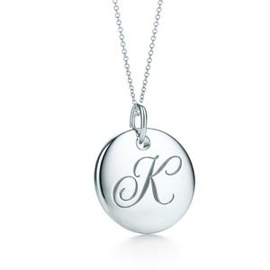 TIFFANY&CO Silver Initial Necklace