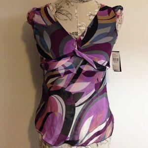 Iz Byer Tops - 🆕 IZ Byer Purple Sheer Top S